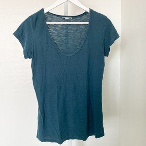 James Perse Emerald Green Round Neck Tee